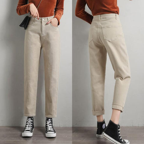 PURE COLOR SLIM STRETCH TROUSERS