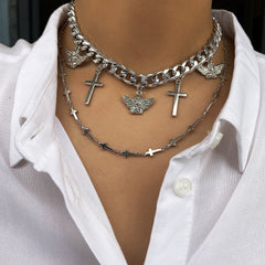 ANGEL CROSS NECKLACE