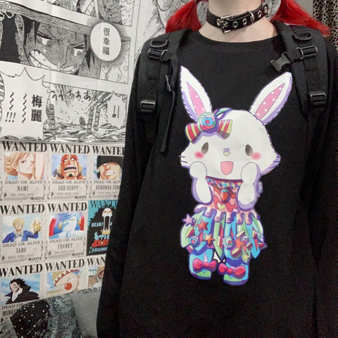 RAINBOW BUNNY LONG SLEEVE T-SHIRT