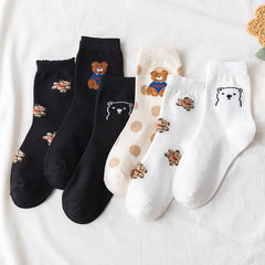 CARTOON BEAR SOCKS (6 pairs)