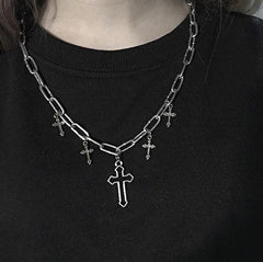VINTAGE STREET SHOT CROSS NECKLACE