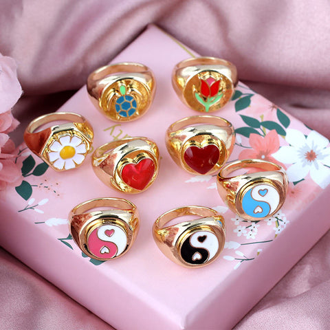 MULTI-COLOR FASHION CREATIVE RINGS