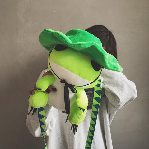 FROG PLUSH SHOULDER BAG