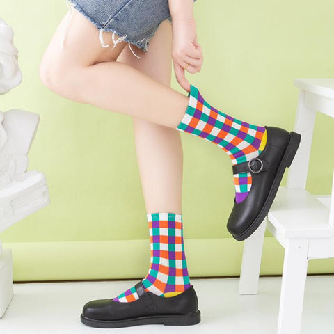 CANDY COLOR RAINBOW SOCKS (3 pairs)