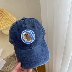 MOON BEAR EMBROIDERED HAT