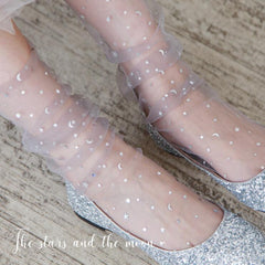 STAR MOON TRANSPARENT SHEER SOCKS