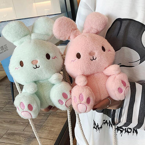 CARTOON PLUSH BUNNY BAG
