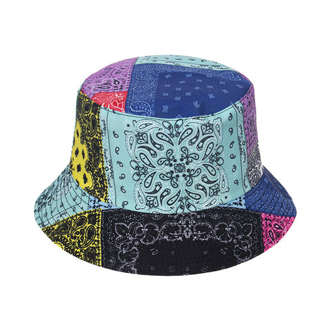 MULTICOLOURED PAISLEY BANDANA BUCKET HAT
