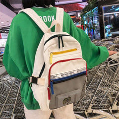 COLOR ZIPPER BACKPACK
