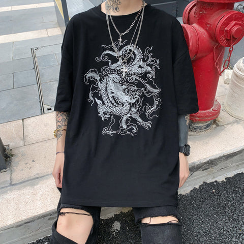 OVERSIZED DRAGON PRINT TEE