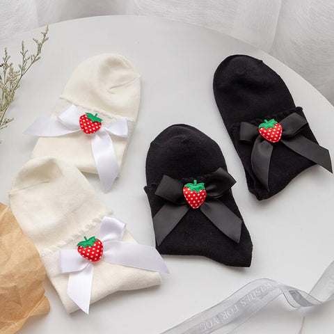 STRAWBERRY BOW SOCKS