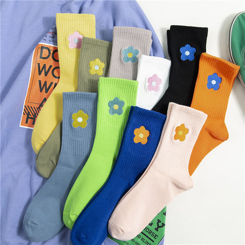 CANDY COLOR FLOWER SOCKS