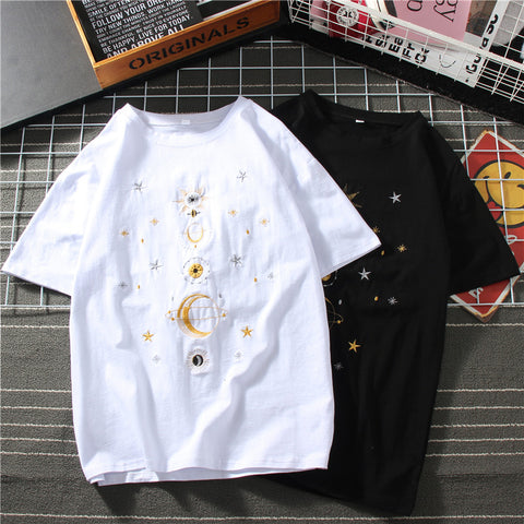 3D PLANET EMBROIDERED SHORT SLEEVE T-SHIRT