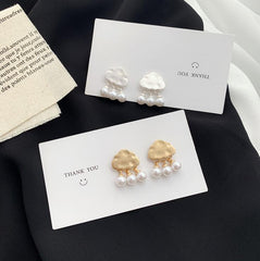 CUTE CLOUD PEARL EARRINGS