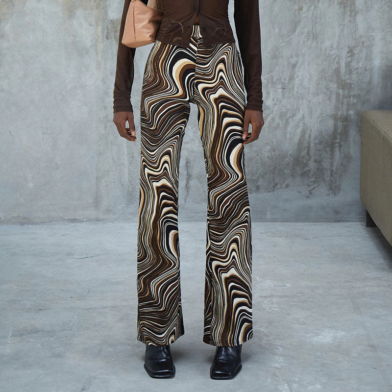 BROWN SWIRL PANTS