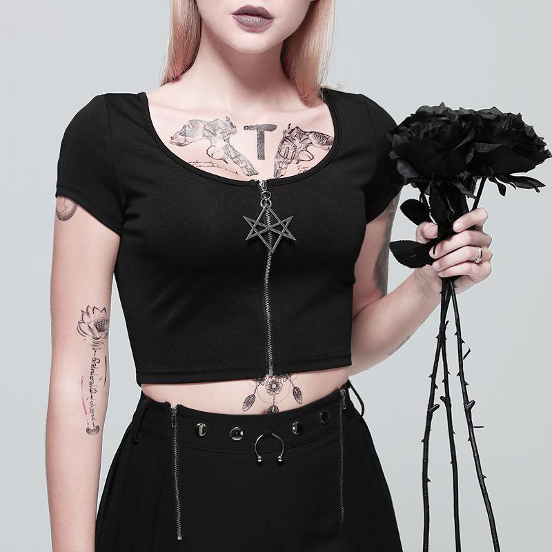 PUNK ZIP CARDIGAN T-SHIRT