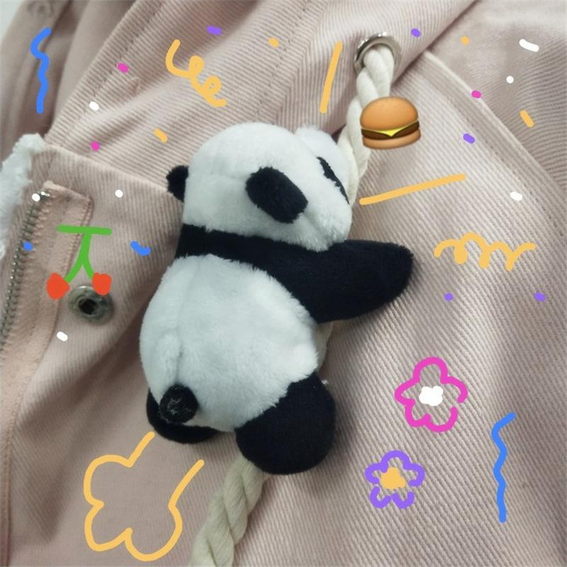 JAPANESE CARTOON PLUSH PANDA BROOCH (2 PCS)