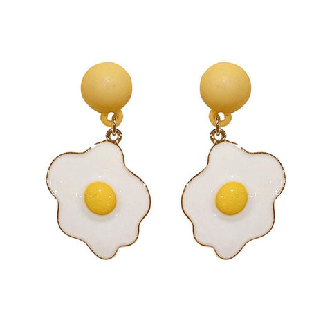 POACHED EGG EARRINGS