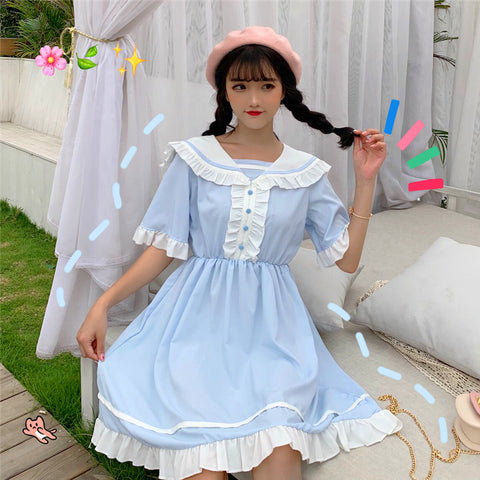 CONTRAST LOLITA LACE DRESS