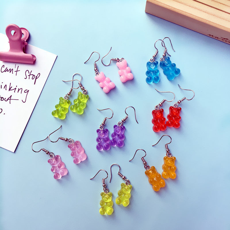 CANDY BEAR EARRINGS (8 Pairs)