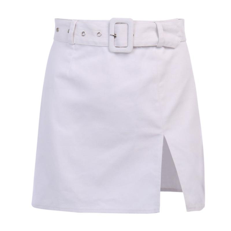 BELT SPLIT MINI SKIRT