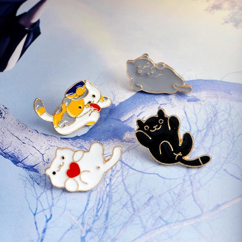 KITTY CAT PINS (SET/4PCS)