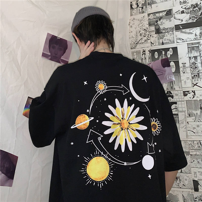 TRENDY PLANET DAISY PRINT TEE
