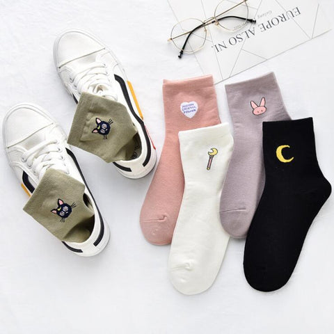 PASTEL SAILOR MOON SOCKS (5 pairs)