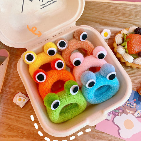 FROG PLUSH HAIR BAND (6 PCS)