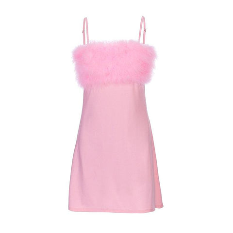 FLUFFY BABYDOLL DRESS