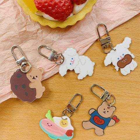 KAWAII BEAR PENDANT KEYCHAIN (6PCS)