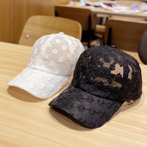 CHRYSANTHEMUM LACE BASEBALL CAP
