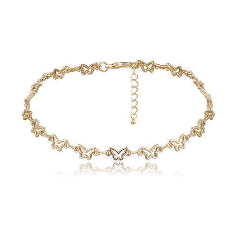 HOLLOW SMALL BUTTERFLY CHOKER