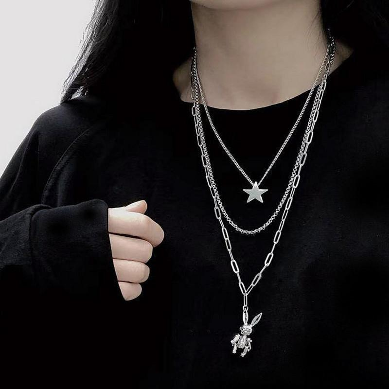 HARAJUKU RABBIT PENDANT MULTILAYER NECKLACE