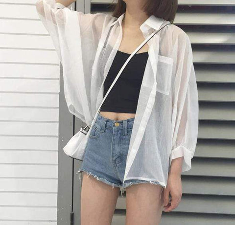 TRANSPARENT CARDIGAN