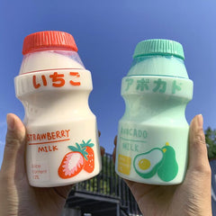 TRANSPARENT FRUIT PRINT PLASTIC WATER BOTTLES