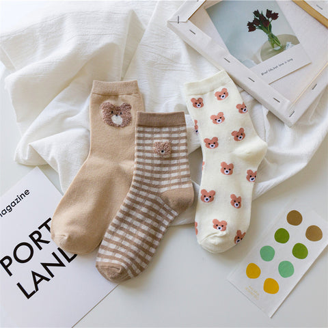 KOREAN BEAR SOCKS (3 pairs)