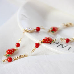 STRAWBERRY FLOWER BRACELET