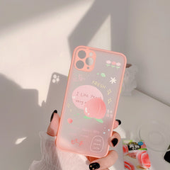 SUMMER PEACH FROSTED IPHONE CASE (I7-I12 PRO MAX)