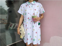 FRUIT CHIFFON DRESS
