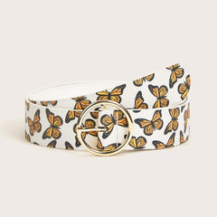 BUTTERFLY PRINT PU BELT