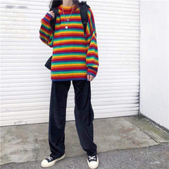 KAWAII RAINBOW KNITTED