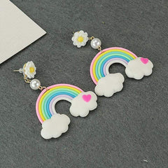 DAISY RAINBOW EARRINGS (1pair)