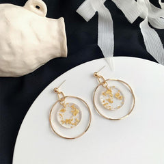GOLD FOIL DANGLE EARRINGS