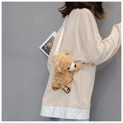 CUTE TEDDY PLUSH BAG