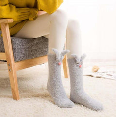 CORAL FLEECE RABBIT WARM SOCKS