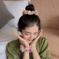 FLOWER EMBROIDERED MESH HAIR BAND (1 PCS)