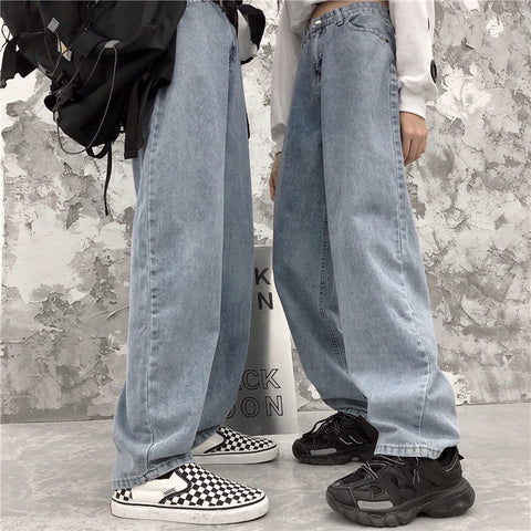 VINTAGE WASHED STRAIGHT JEANS