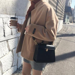 SQUARE PU SHOULDER BAG