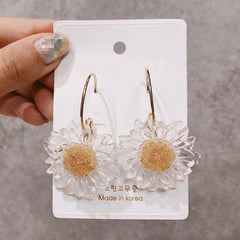 KAWAII TRANSPARENT DAISY EARRINGS
